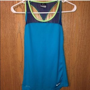 NIKE Blue Dri Fit Size XS Tank Top